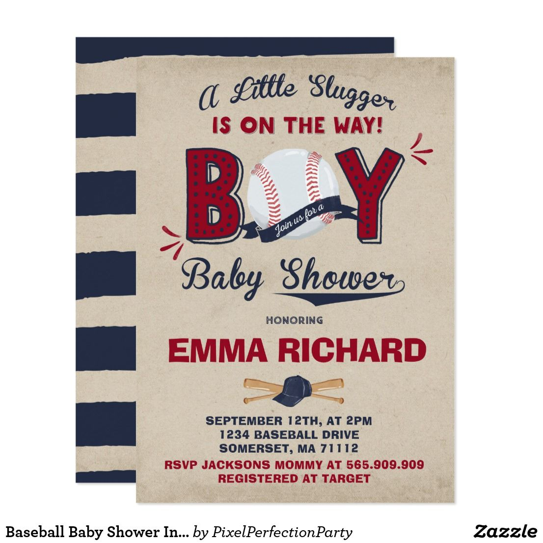 Baseball Baby Shower Invitation Baseball Shower A perfect Way to ...
