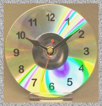 C mo hacer un reloj cd manualidades f ciles y divertidas - Como hacer manualidades faciles para ninos ...