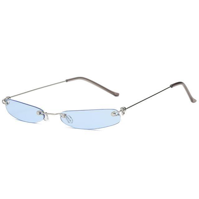 3e82fd9cc3 Owl City Vintage Sunglasses Women Small Narrow Sun Glasses Retro Rectangle  Sunglass Brand Designer Female Eyewear Rimless Shades