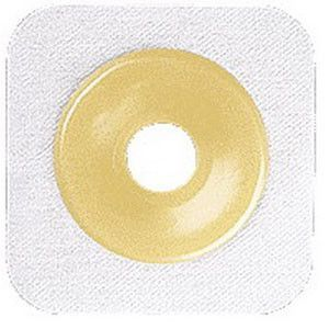 """BX/10 - Sur-fit Natura Stomahesive Cut-to-fit Flexible Wafer 5"""" x 5"""" Flange 2-3/4"""" White"""