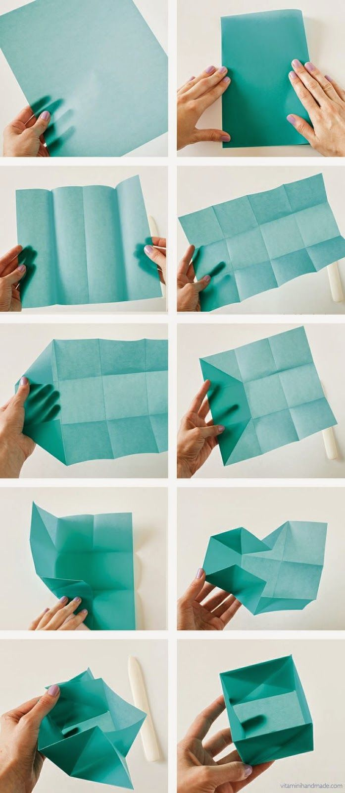Easy Origami Box Folding Instructions | 1600x697