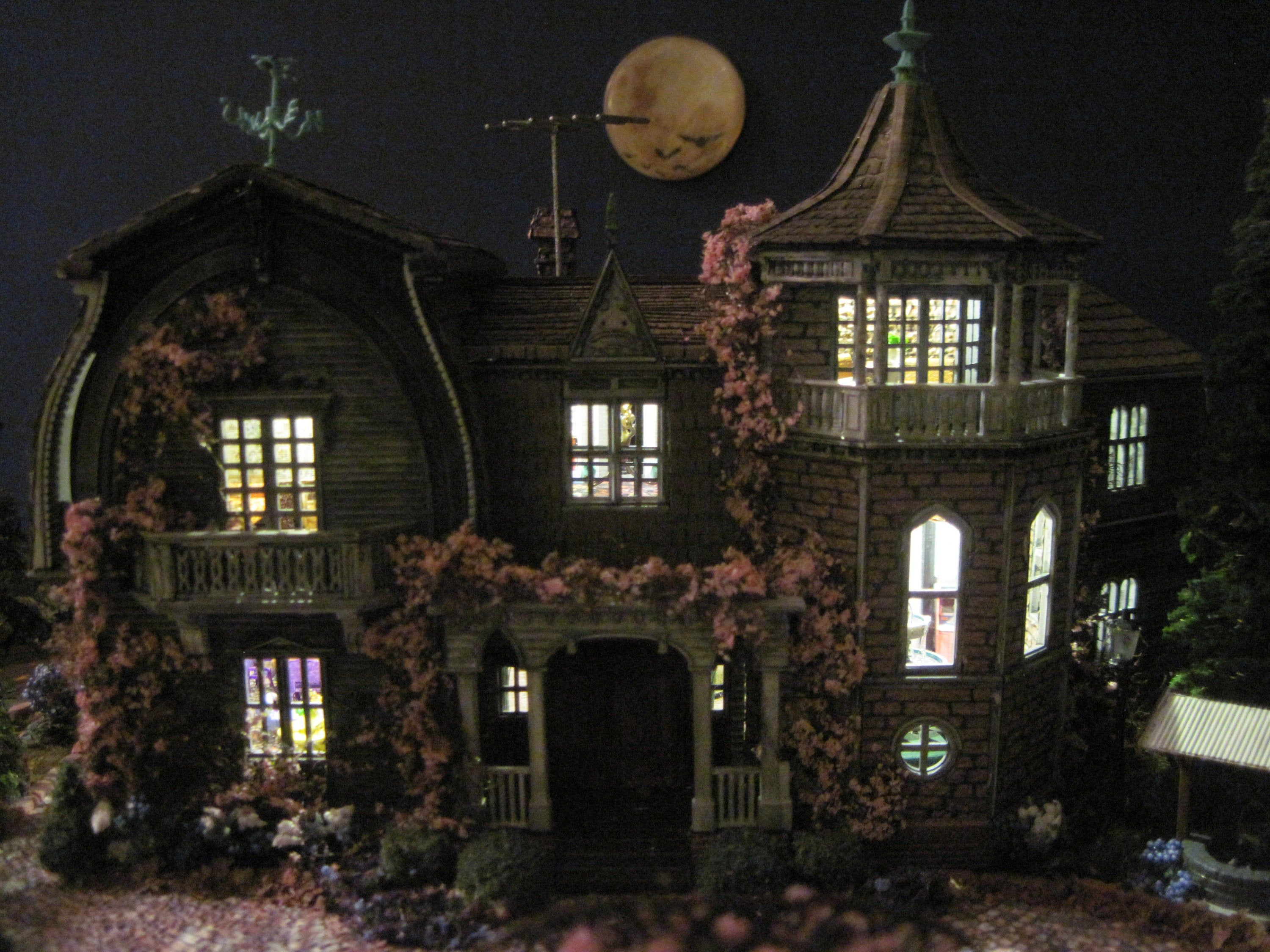 Made-to-Order Munster House Furnished Dollhouse on a Property HO scale #pictureplacemeant