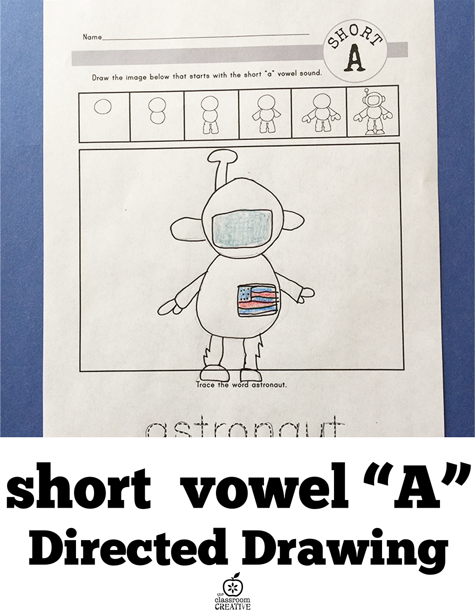 "This is how visual learners should learn their vowel sounds! A short ""a"" vowel directed drawing activity."