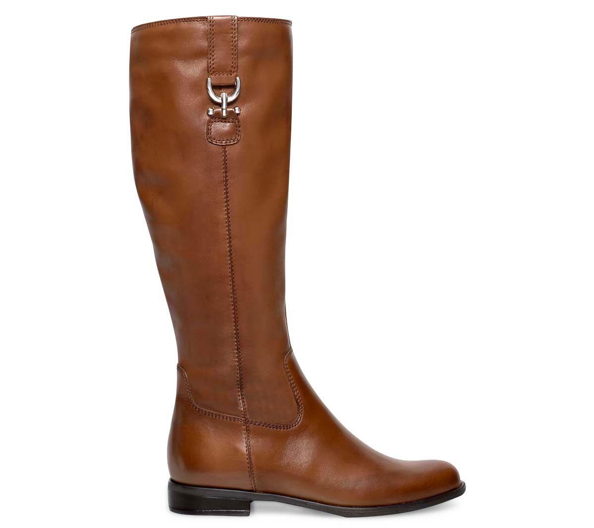 botte cavalière cuir camel - bottes - femme | la mode la mode la