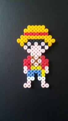Luffy One Piece perler beads