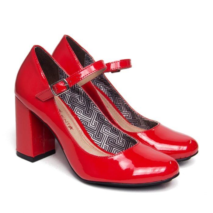 5c16730f51d Pump Alice Couro Verniz Vermelho Sapato Verniz