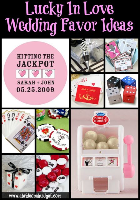 Feeling Lucky In Love Let Your Wedding Favors Reflect That Check Out Our Favor Ideas From Www Abrideonabudget