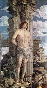 "by Andrea Mantegna ""Le martyre de Saint Sebastien"" (1480)"