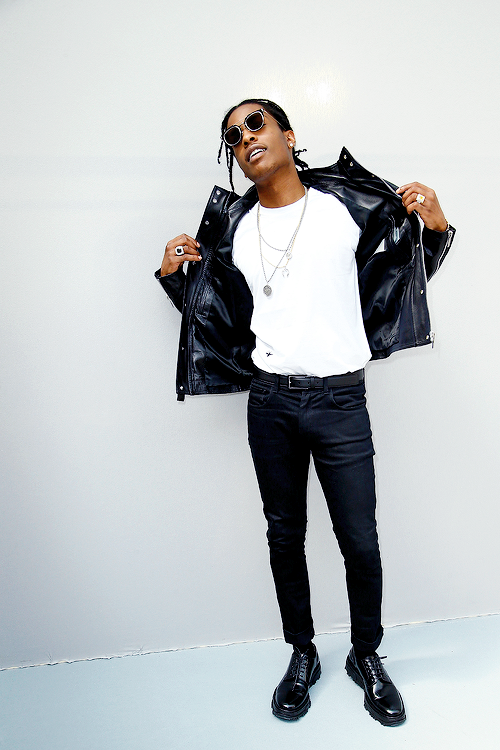 "celebritiesofcolor: "" ASAP Rocky poses Backstage after the Dior Homme  Menswear Spring/Summer 2016 show as part of Paris Fashion Week on June 2015  in Paris, ..."