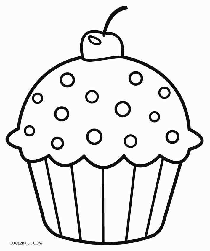 Cup Cake Coloring Pages For Preschoolers : Free Printable Cupcake Coloring Pages For Kids ...