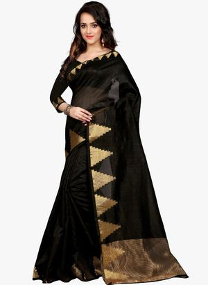 87e5ce2b4a Black Sarees - Buy Black Color Printed Sarees Online in India ...
