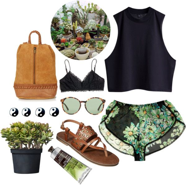 greenery #2 by simpleandyoung featuring leather bags  Only Hearts / Madewell / Mossimo  shoes / Topshop leather bag / The Row round frame sunglasses / The Body Shop / IKEA Crassula