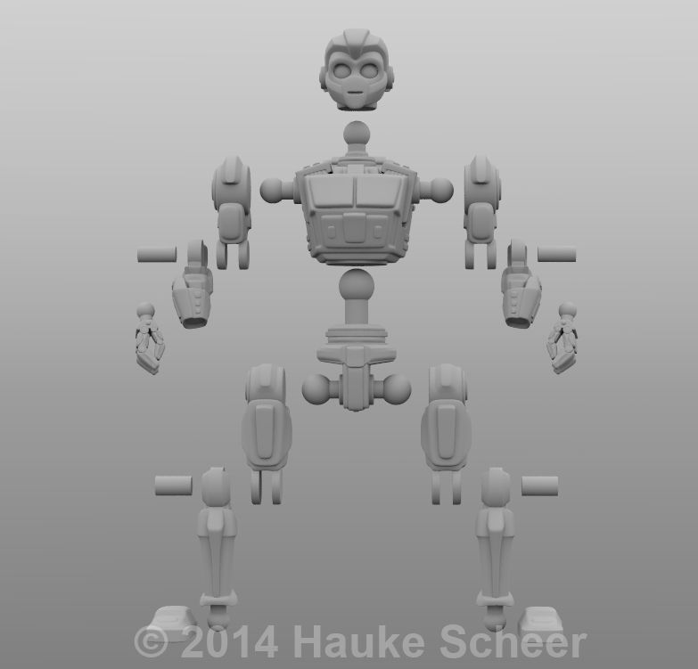 The Foundry Community :: Forums :: Robots and Androids for 3D printing and animation