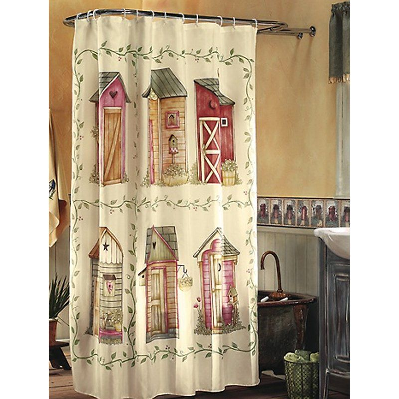 Nostalgic Outhouse Shower Curtain U2014 Buy Nostalgic Outhouse Shower Curtain,  Priceu2026