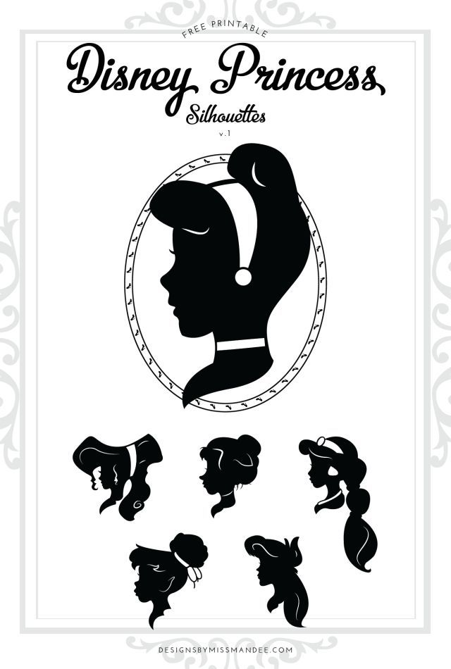 Inventive image in free printable disney silhouettes