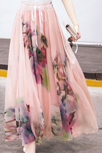 ef00eb6258 High Waist Floral Maxi Skirt | Skirts | Skirt fashion, Fashion, Skirts