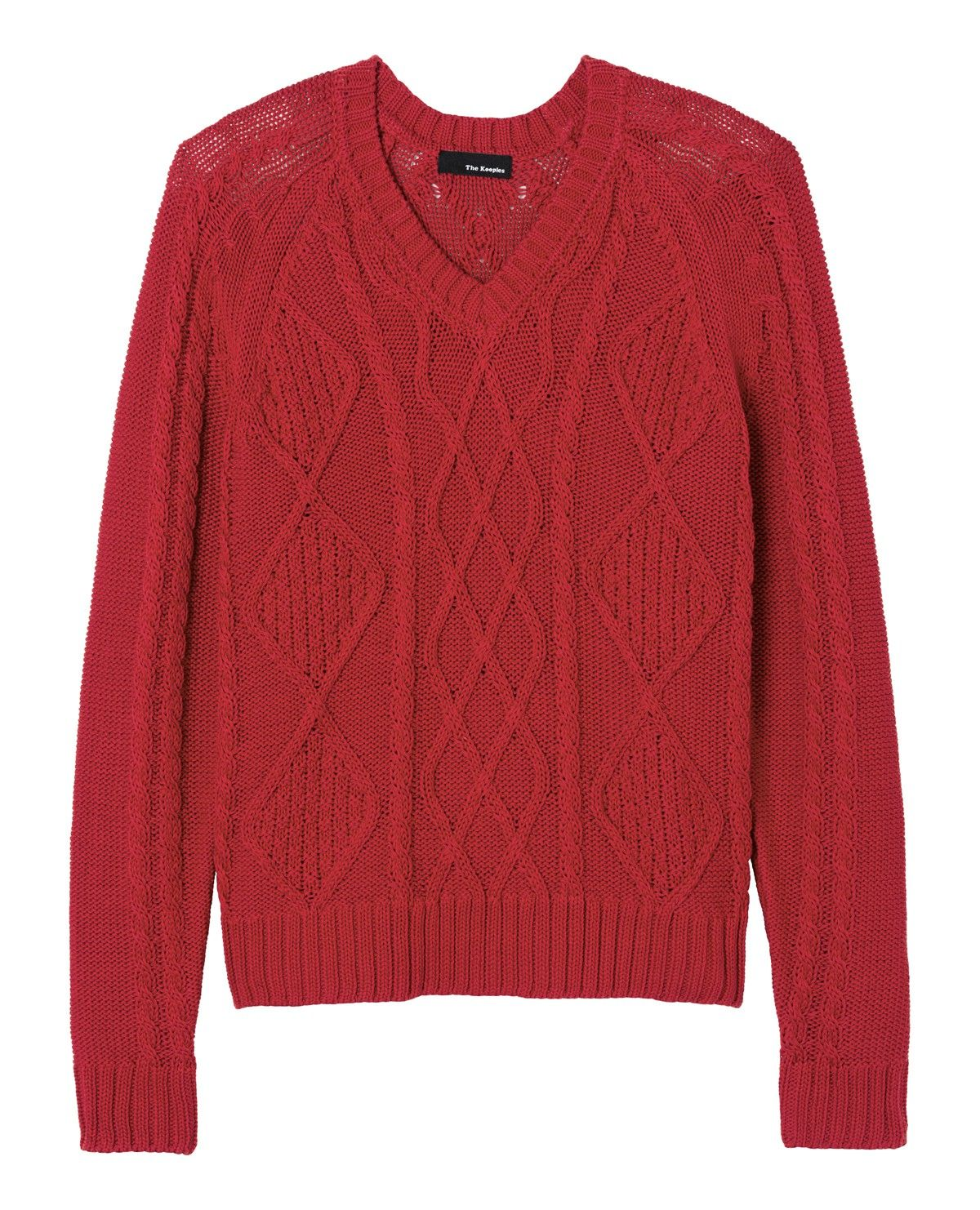 Cable-knit sweater in mercerised cotton - Man - Final Sale - The ...