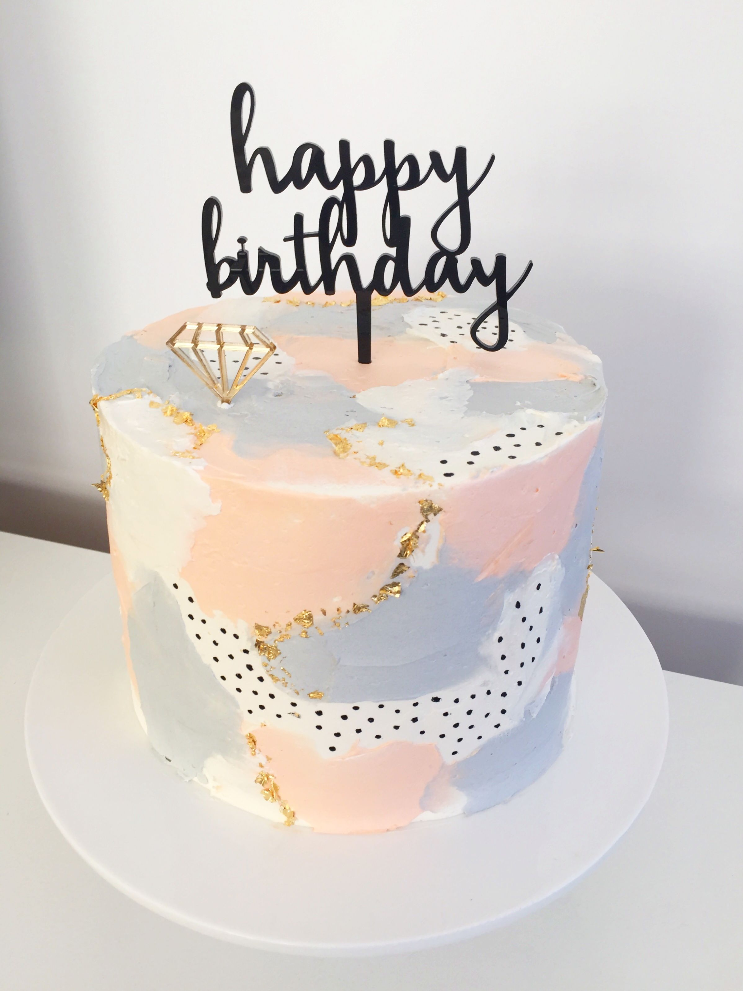Love This Cake Design Inspiration From Dessertstomach Cake Topper By Sweet Savanna Cookies On E Birthday Cakes For Teens 13 Birthday Cake Cute Birthday Cakes
