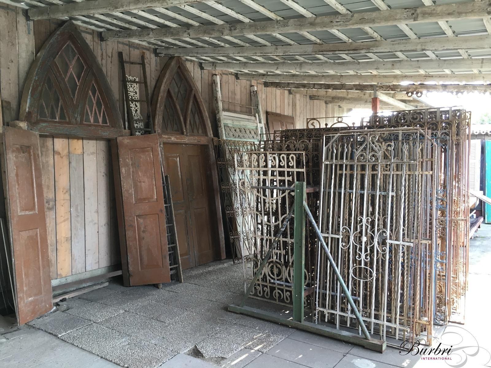 Antieke set deuren met glas oude bouwmaterialen burbri