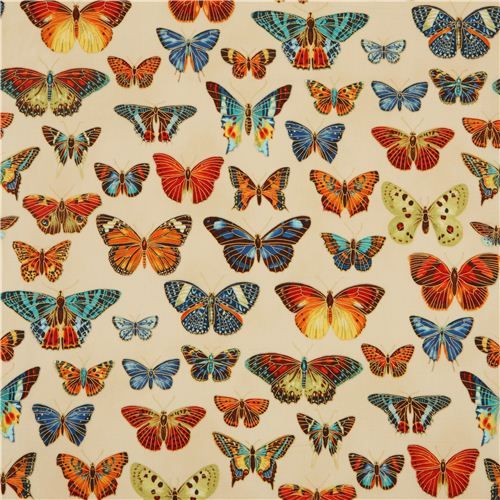 butterfly  gold fabric by Robert Kaufman from the USA 2