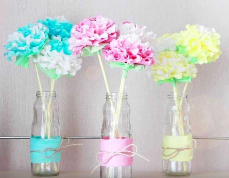 presa di fabbrica economico in vendita nuove immagini di Bellissimi fiori con tovaglioli di carta | Tovaglioli di carta ...