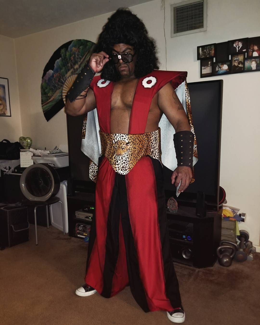 583 Likes 59 Comments Michael Knightmage Wilson Knightmage1 On Instagram Sho 39 Nuff The Last Dragon Day Cosplay Diy Clothing Television Characters
