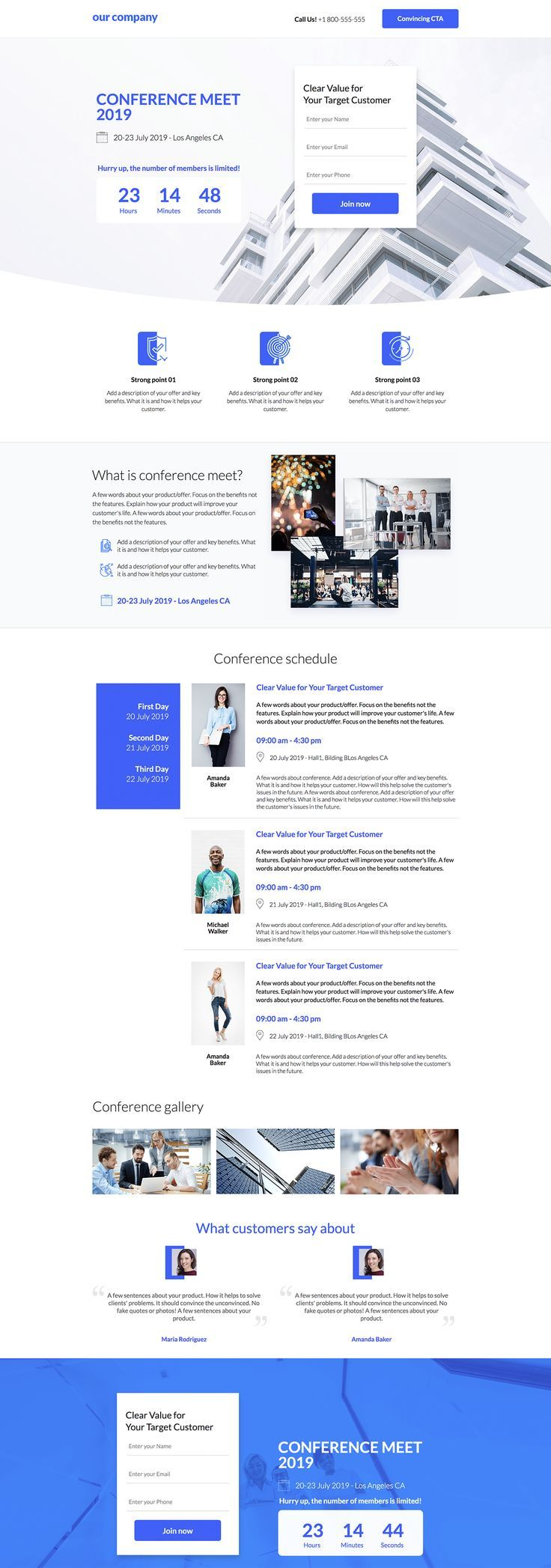 Conference Sign Up Landing Page Template In 2020 Conference Design Landing Page Inspiration Landing Page