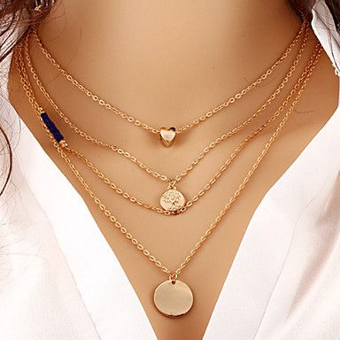 Super sexy necklace with multi-layers. Loving the mineral and circle  pendants! Like it too? Get it for $1.99