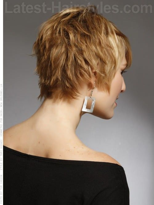 Back View Of Layered Short Haircut Hairstyle And Haircuts For Women And Men Wallpaper