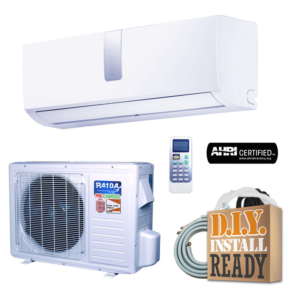 Super Efficiency 9 000 Btu 3 4 Ton Inverter Ductless Mini Split Air Conditioner And Heat Pump 110v 60hz White Ductless Mini Split Ductless Heat Pump