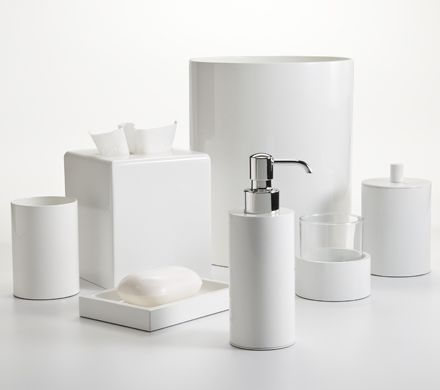 silvio white enamel bath accessories made in italy by labrazel each cylinder