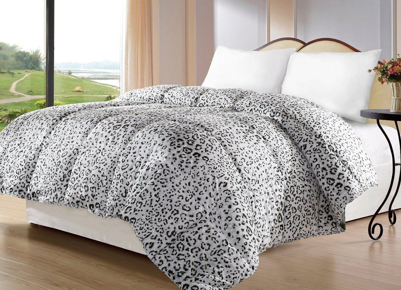 Snow Leopard Comforter With Images Grey Bed Covers