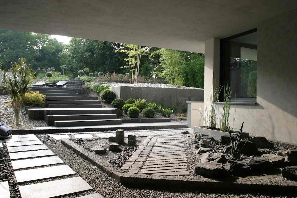 Jardin contemporain : 35 idées d\'aménagement sympathiques | Pierre ...
