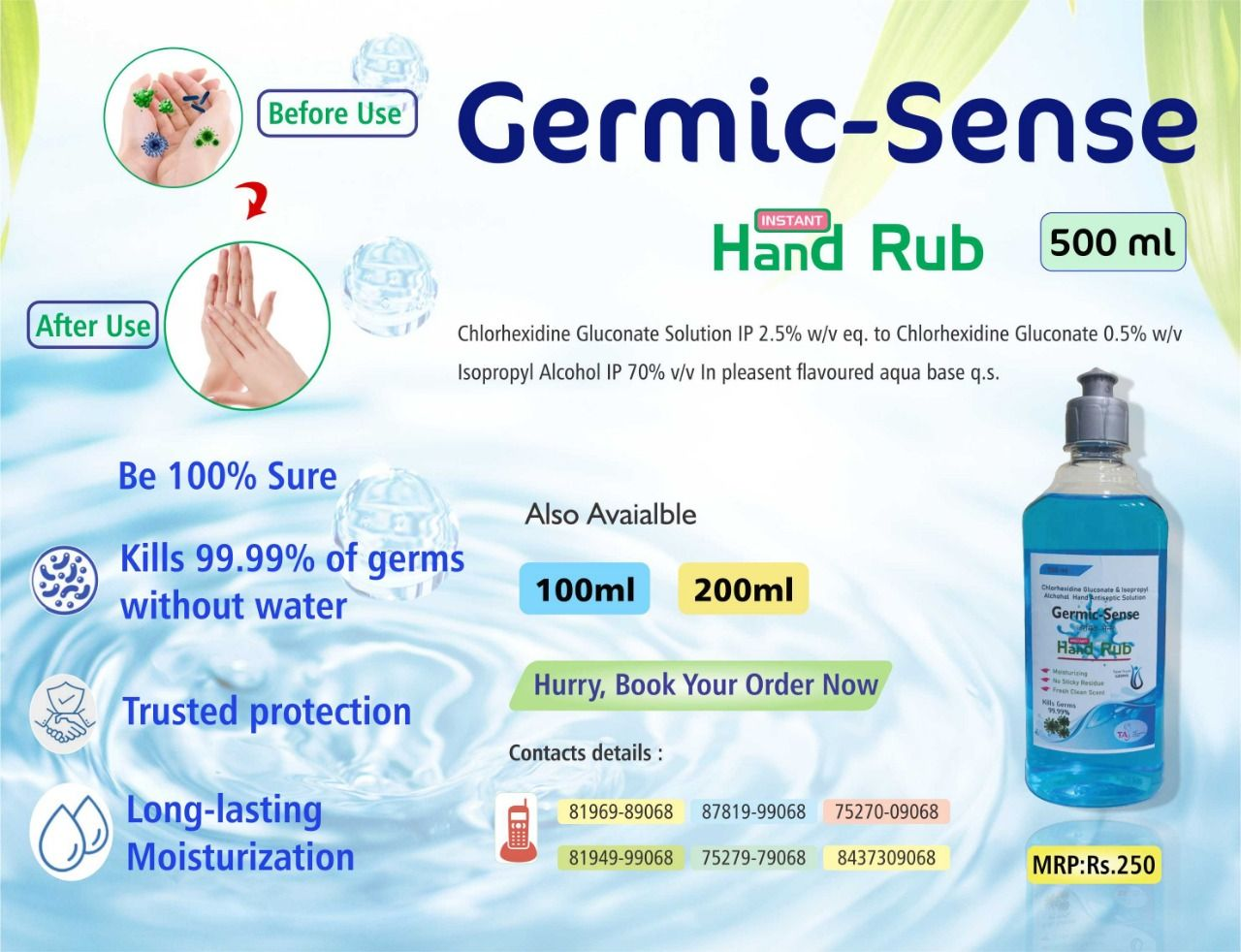 Limites Stock Left for Hand Sanitizer!! Low Rates for Bulk