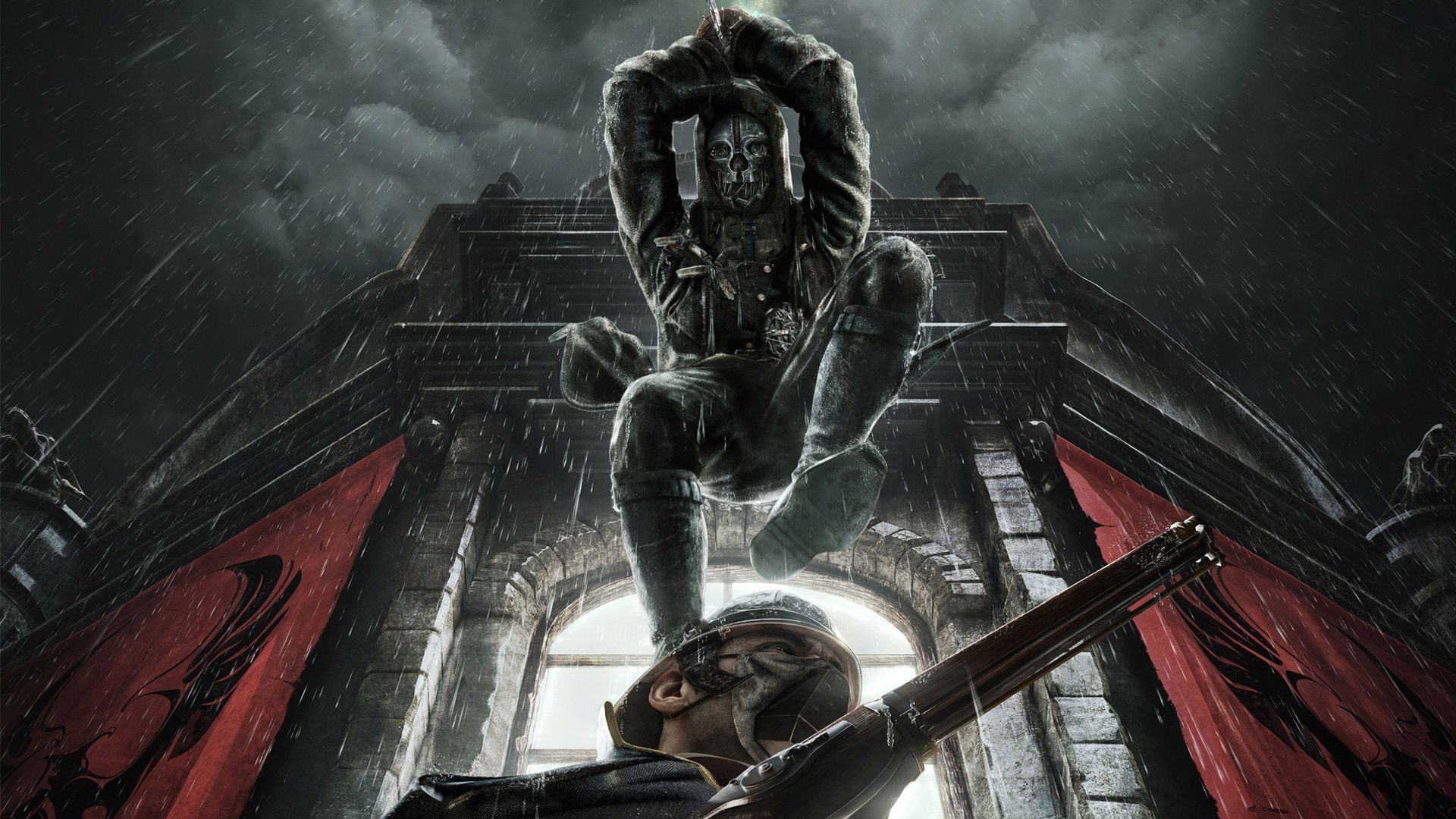 Dishonored Corvo Mask Wallpaper Game Concept ArtBest