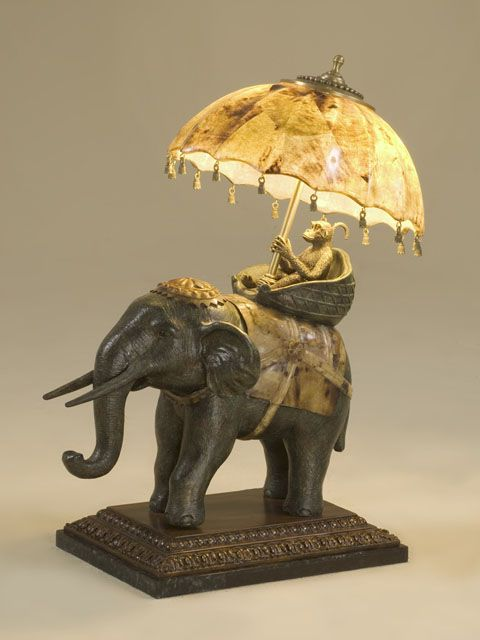 It S Not Everyday You See A Monkey Riding An Elephant Cute Lamp That Stands Out