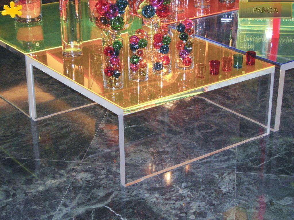 Panca tavolo ~ Images tavolo trasparente in plexiglas mod panca g