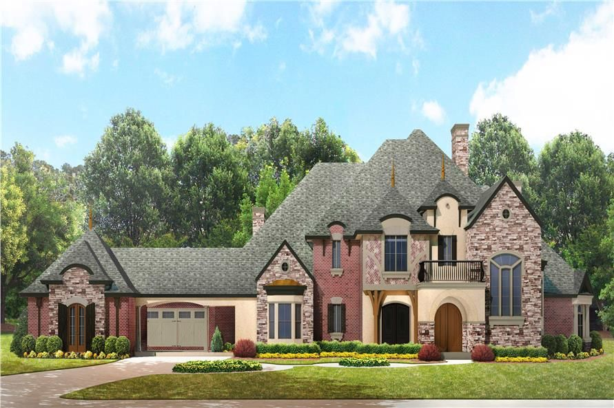 European Manor House Plan 134 1350 4 Bedrm 5303 Sq Ft Home Theplancollection Luxury House Plans European House Plans French Country House