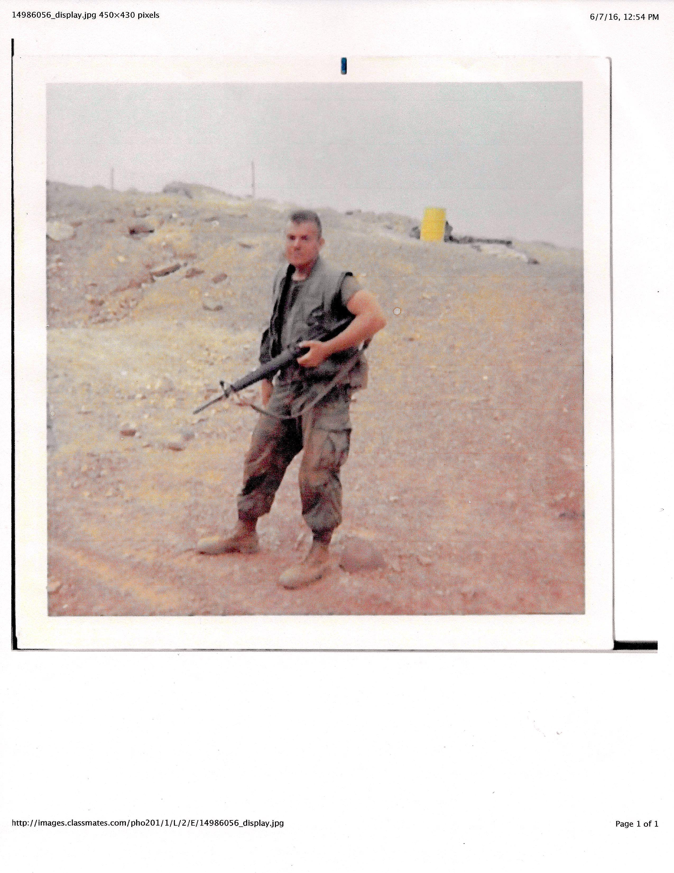 Danny Hill 55 I Corps Vietnam April 1969