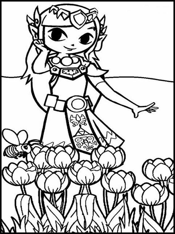 Dibujos para Colorear. Dibujos para imprimir y pintar Zelda 6 ...