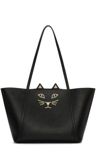 Charlotte Olympia - Black Mini Feline Shopper   for the love of a ... 36edd5e20d