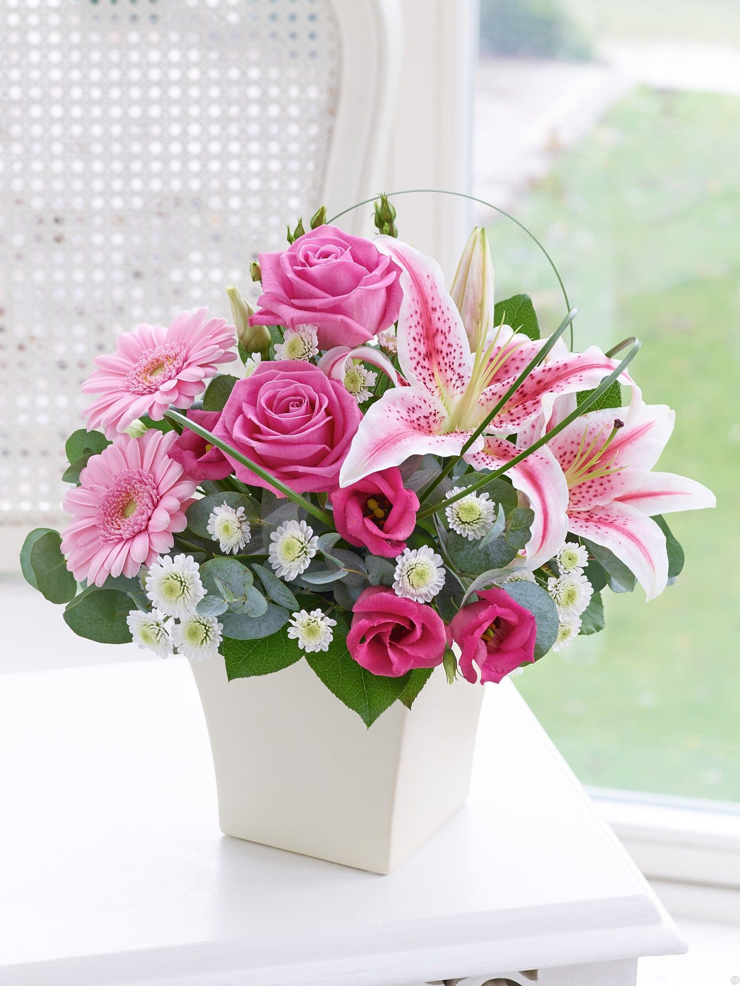 Pink Exquisite Arrangement Flowers delivered, Flower