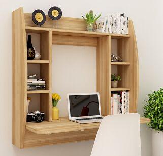 Image Floating Wall Desk Pc Laptop Shelves Bookshelves