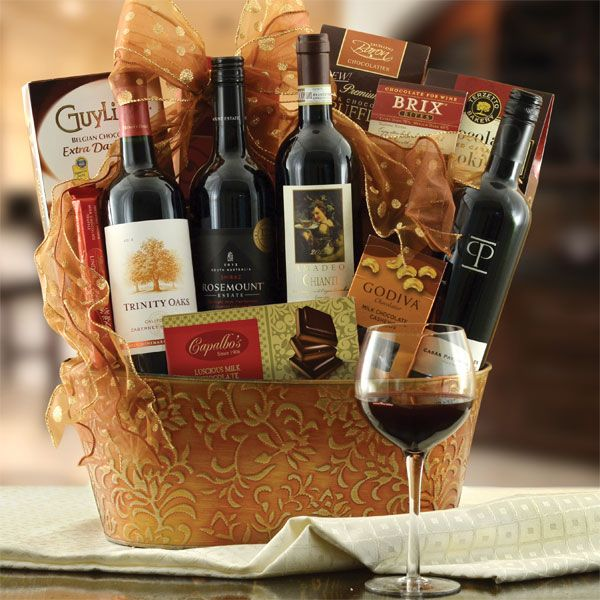 Continental Reds Wine Gift Basket $139.99 Item # 208 Free Shipping
