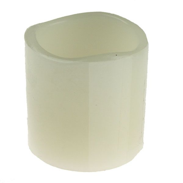 Battery Operated Cream Flicker Wax Candle With Yellow LED - 5cm