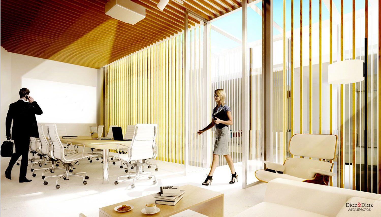 Diaz Y Diaz Arquitectos. Rehabilitación Reforma Edificio Madrid Estudio  Coruña   Oficina Espacio Trabajo Interiorismo