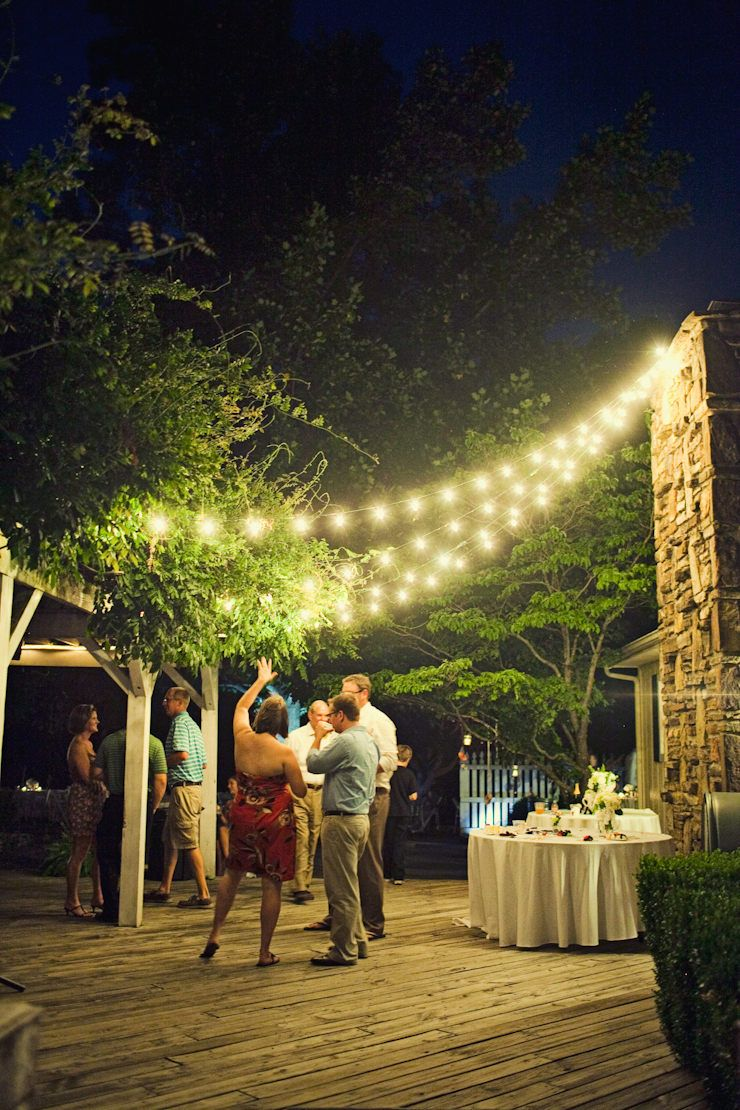 Beautiful idea for deck lighting | Party on the Deck | Pinterest ...