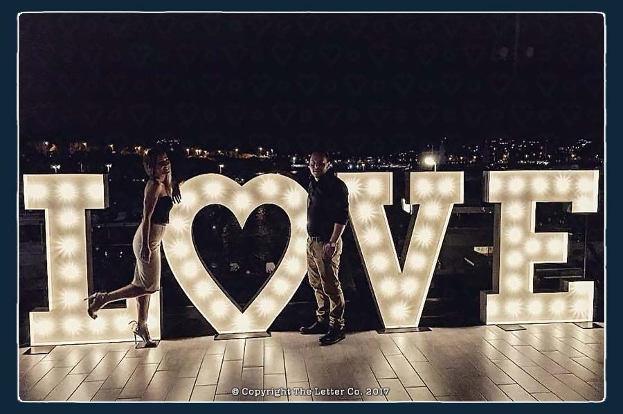 Illuminated Wedding Letters [1.5 meter height]