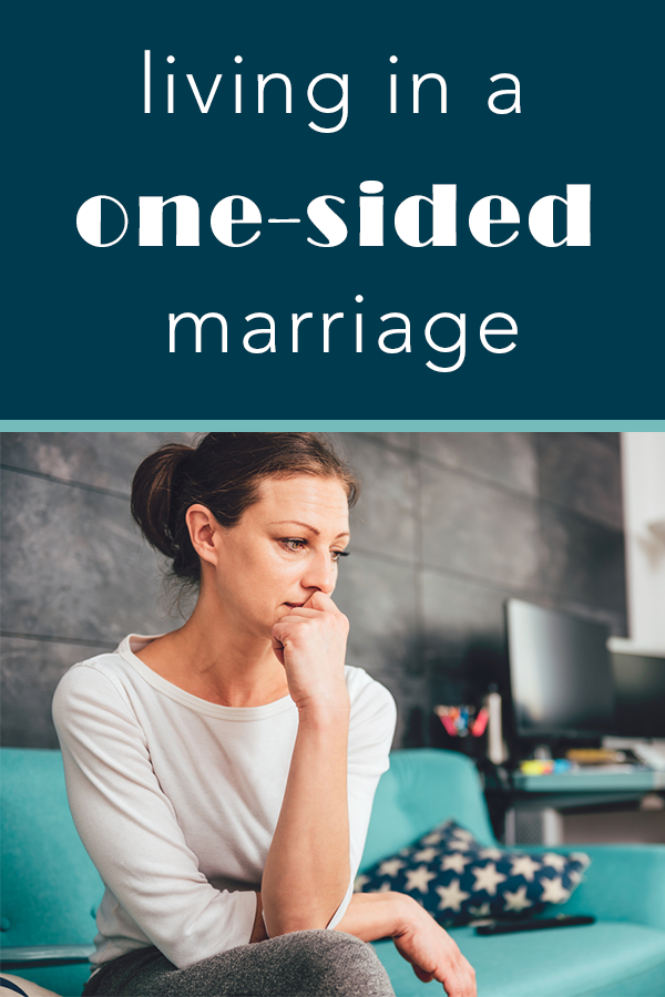 Advice for handling life in a one-sided marriage #marriage