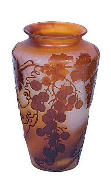 Gall vaso em pasta de vidro degradee de mbar com for Vaso galle